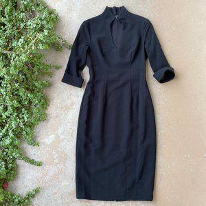 Black Halo Madeline Black Pencil Sheath Dress